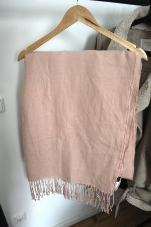 H&M Wollen sjaal stoffig roze
