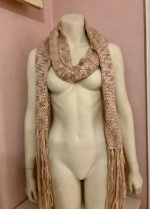 H&M Sciarpa con frange argento-rosa chiaro