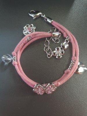 Rosa Schmetterlings Armband