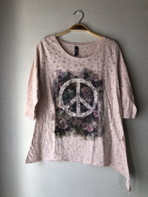 Rosa Shirt mit Peace-Symbol