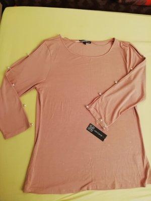 Rosa Shirt mit Perlen von Cable&Gauge, Gr. XL, Neu mit Etiketten