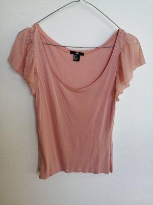 Rosa Shirt mit Plisseeärmeln (H&M, S)