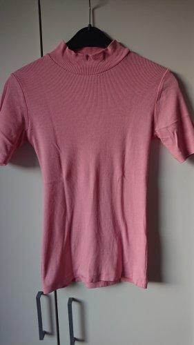 Vila Koszulka z golfem jasny różowy