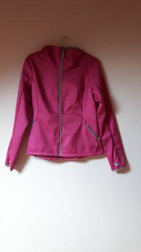 rosa Softshelljacke mit Kapuze Bench
