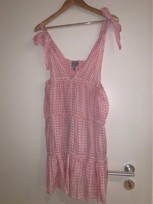 Rosa Sommerkleid rosa/weiß kariert