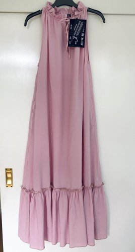 True Religion Sukienka z falbanami jasny różowy-różowy Lyocell