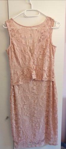 rosa Spitzen-/Abendkleid