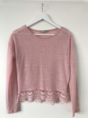 Rosa Spitzen Shirt