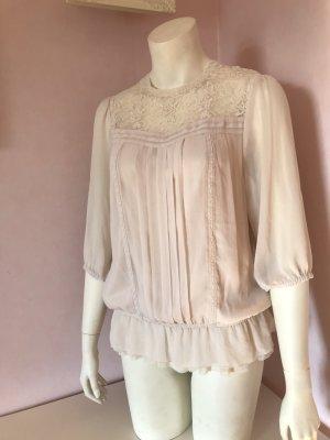 H&M Blusa de encaje rosa claro Poliéster