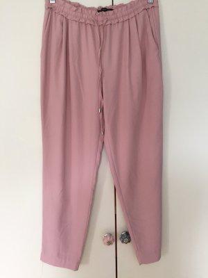 Zara Spodnie karoty w kolorze różowego złota
