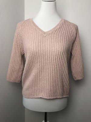 Reserved Sweter z krótkim rękawem jasny różowy-różany