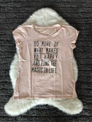 T-shirt imprimé rosé-rose clair