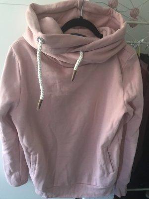 Rosa Sweatpullover mit Kragen Gr. S