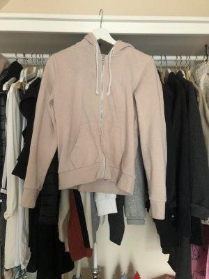 Rosa Sweatshirtjacke