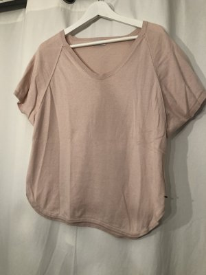 Rosa T-Shirt aus Baumwolle / Kaschmir in Onesize