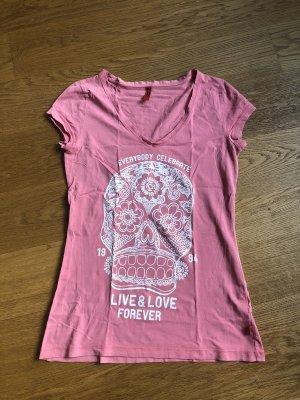 Rosa T Shirt Größe M von QS