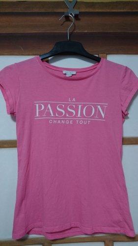 Rosa T-Shirt mit Aufdruck