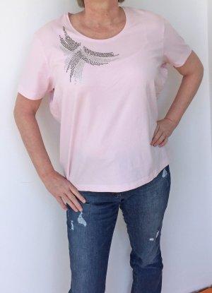 rosa T-Shirt mit Strass-Steinen, Gerry Weber, Größe 46