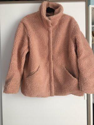 H&M Giacca in eco pelliccia color oro rosa