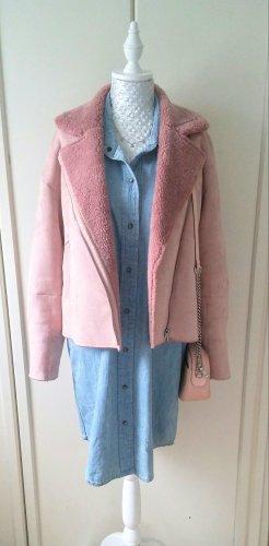 rosa Teddyjacke von Zara