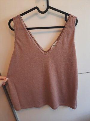 Next A-lijn top stoffig roze Polyester