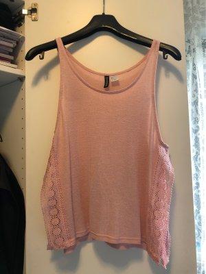 H&M Divided Top di merletto color oro rosa