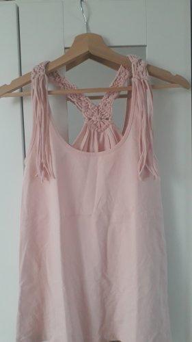 C&A Clockhouse Haut en crochet rose clair