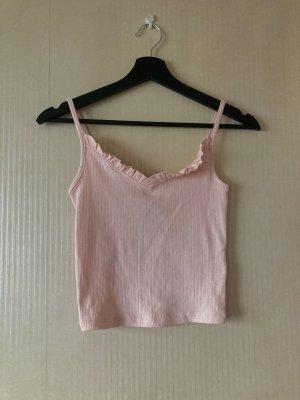 Rosa Träger Shirt mit Rüschen
