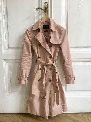 Rosa Trenchcoat von Massimo Dutti wasserabweisend | Regenmantel Regentrenchcoat Trench rosé nude XS