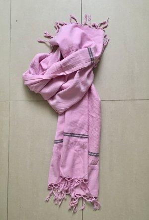Summer Scarf light pink-grey mixture fibre