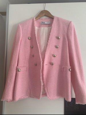 Zara Tweed blazer roze