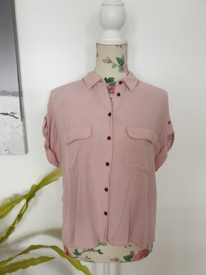 New Look Blouse met korte mouwen stoffig roze-rosé