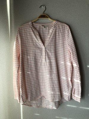 Rosa/weiß gestreifte Bluse