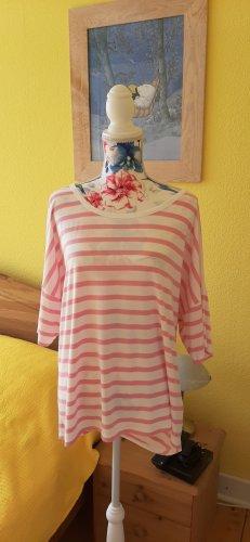 rosa weiß gestreiftes Shirt mit Cut out am Rücken