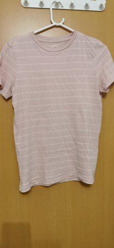 Rosa weiß gestreiftes Tshirt