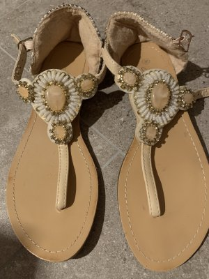 Sandales à lanière rose-blanc