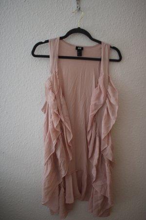 H&M Gilet long tricoté rose