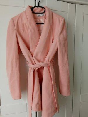 Giacca aderente rosa pallido-rosa