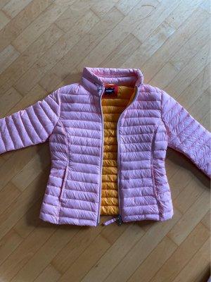 DifferentFashion Pikowana kurtka jasny różowy-jasny pomarańczowy
