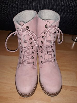 SDS Lace-up Booties pink