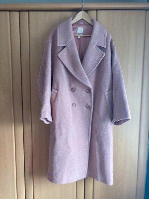 H&M Trend Wollen jas roze Wol