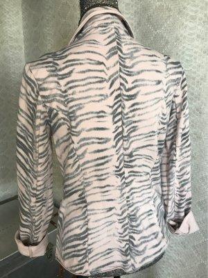 Chic & Mit Giacca-camicia rosa antico-grigio Cotone