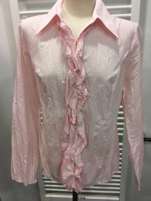 Rosafarbene Bluse mit Rüschen