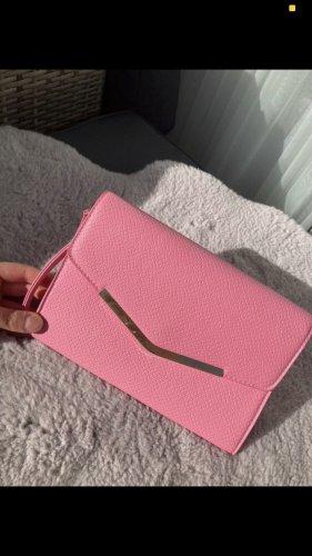 rosafarbene Clutch