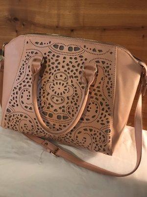Rosafarbene Handtasche