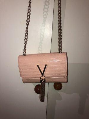 rosafarbene Valentino Umhängetasche