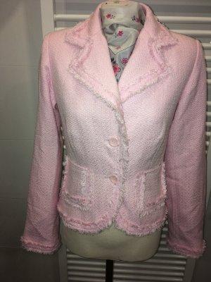 Kombiworld Blazer en tweed rose clair