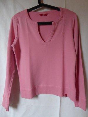 Rosafarbener Pullover mit besonderem V-Ausschnitt von edc