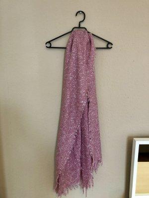 C&A Bufanda de punto rosa-blanco