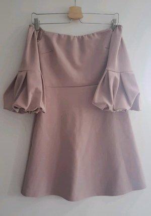 Rosafarbenes/ Fliederfarbenes Kleid mit Puffärmeln von Asos